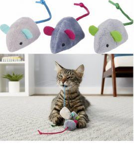 Frisco Basic Plush Mice Cat Toy With Catnip