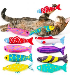 AWOOF Catnip Fish Cat Toy For Indoor Cats