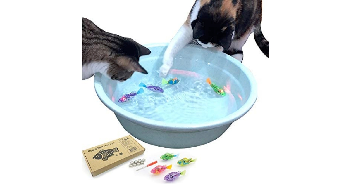 Interactive Moving Fish Cat Toy with LED Light