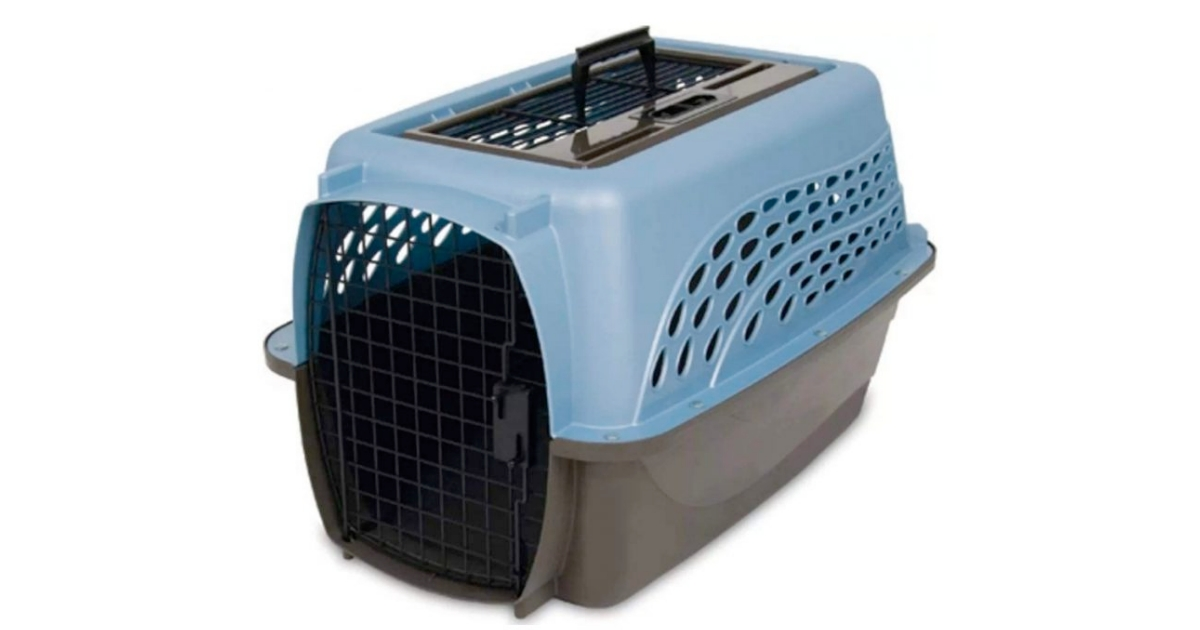 Petmate Two Door Top Load Cat Carrier For Air Travel