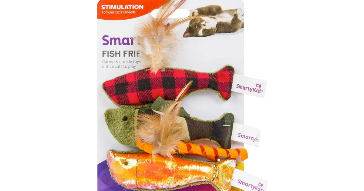 SmartyKat Fish Friends Crinkle & Catnip Fish Toys For Cats